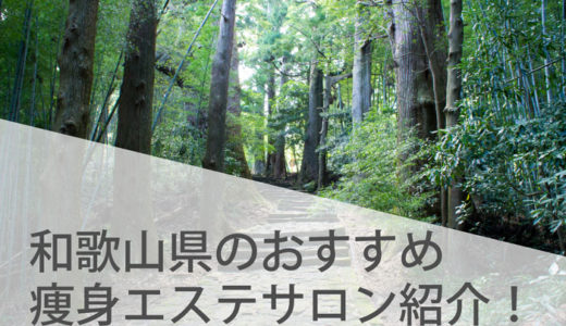 和歌山県の人気がある和歌山駅からも近い痩身エステサロンランキング!