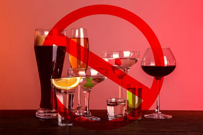 キャビテーション後にはお酒は禁止